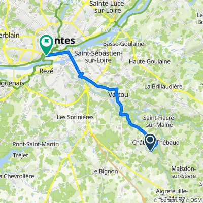 De Route de Montbert, Château-Thébaud à 30 Mail des Chantiers, Nantes