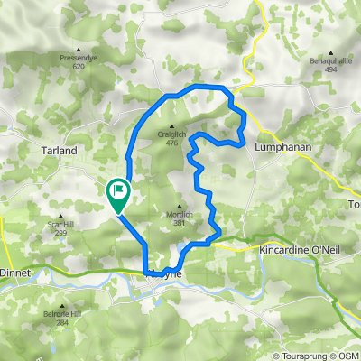 loop around Milton of Auchinhove