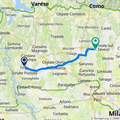 Da Via Michelangelo Buonarroti 33, Ferno a Via Giuseppe Garibaldi 1–3, Lazzate
