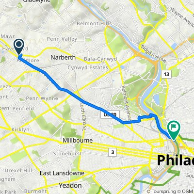 Route to Schuylkill River Trail, Philadelphia