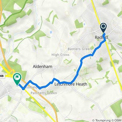 73–99 Station Approach, Aldenham, Radlett to Milcars Mazda, Otterspool Way, Watford