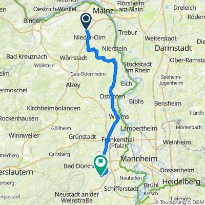 Ameisengasse 4, Ober-Olm nach Walter-von-Vilbell-Straße 4, Rödersheim-Gronau