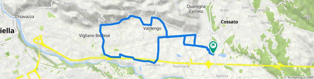 Da Via Giovanni Amendola 318A6, Cossato a Via Giovanni Amendola 318A6, Cossato