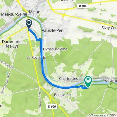 Itinéraire à partir de 2 Rue de l'Industrie, Melun