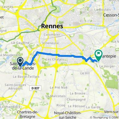 De Rue Simone de Beauvoir 1, Saint-Jacques-de-la-Lande à Les Logettes, Chantepie