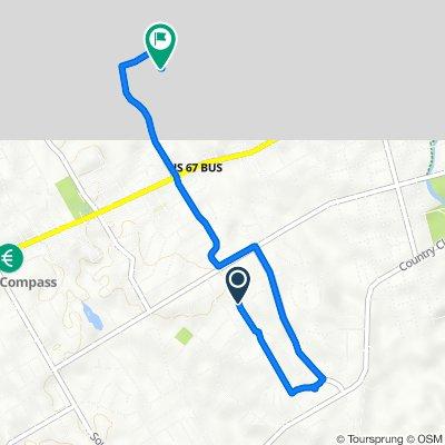820 S Ridgeway Dr, Cleburne to 815 Woodard Ave, Cleburne