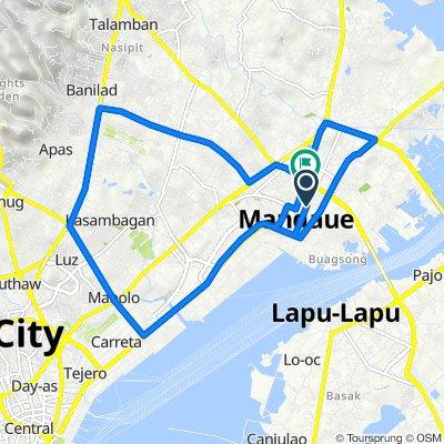 P.J.Burgos 350, Mandaue City to S.B. Cabahug 172, Mandaue City
