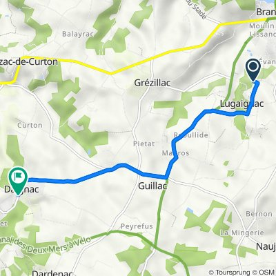 De 5 Coiffard, Lugaignac à 61 Le Bourg, Daignac