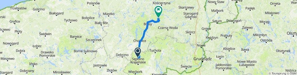 Trasa do Wdzydze Tucholskie 66, Karsin