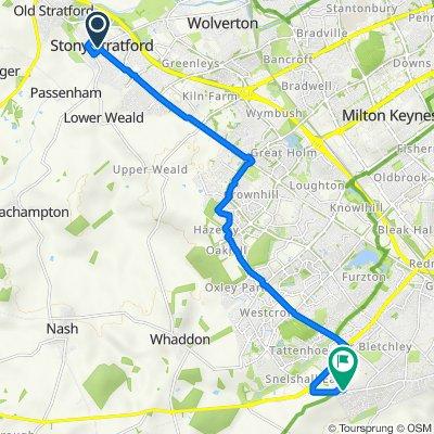 7 High St, Milton Keynes to 97 Windmill Hill Dr, Milton Keynes