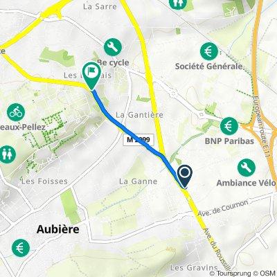 De 15 Avenue du Roussillon, Aubiere à Avenue de la Margeride, Clermont-Ferrand