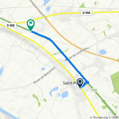 Itinéraire à partir de 10 Rd 813 de Toulouse, Saint-Porquier