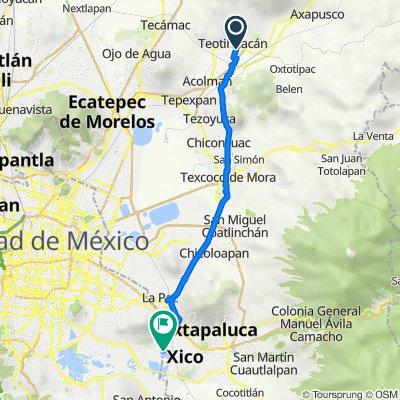 De México San Lorenzo 1, San Juan Teotihuacan de Arista a Avenida de Las Bombas, Ciudad de México