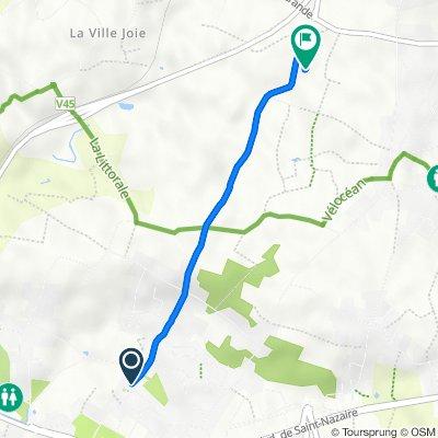 22 Route de la Villès Mahaud, Pornichet to Route de la Villès Hérioux, Pornichet