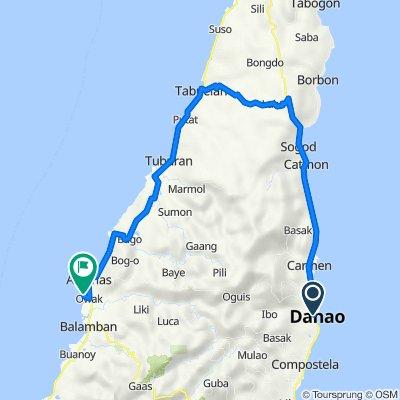 Route from Olivar Senor Street, Danao City