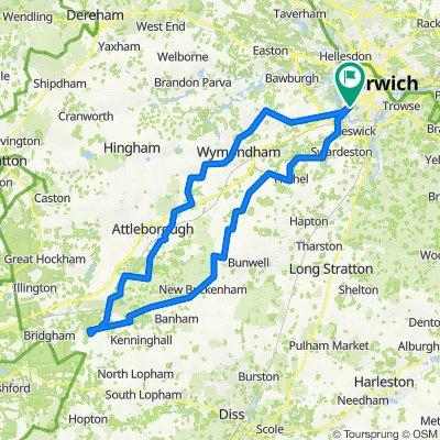 45 mile Norwich East Harling loop