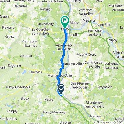 Itinéraire vers 1 Place de l'Église, Cuffy