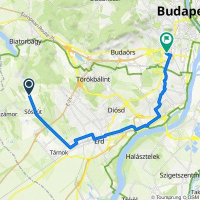 Biai út, Sóskút to Igmándi utca 47, Budapest