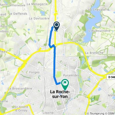 De 80 Rue Graham Bell, La Roche-sur-Yon à 33 Rue Marcellin Berthelot, La Roche-sur-Yon