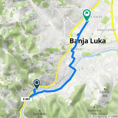 Jesenjinova 1, Banja Luka to Banja Luka