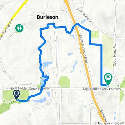 500 W Hidden Creek Pkwy, Burleson to 820 S Hurst Rd, Burleson