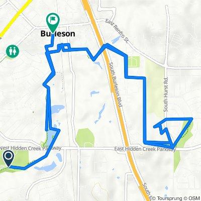 500 W Hidden Creek Pkwy, Burleson to 120 W Ellison St, Burleson