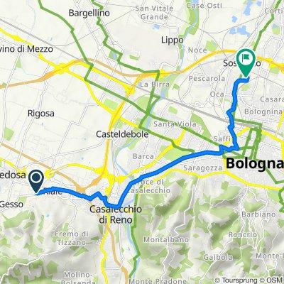 Da Via Gesso 20/6, Zola Predosa a Via Piero Gobetti, Bologna