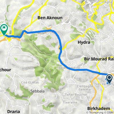 De Chemin Dar Soltane, Bir Mourad Raïs à Route AIN ALLAH 16047, Dely Ibrahim