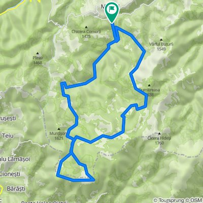 Traseu 1: bicicletă nivel AVANSAT