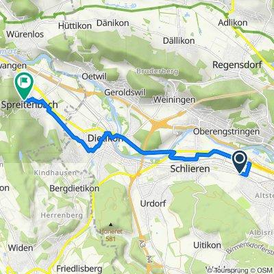Zürcherstrasse 161.1, Schlieren nach Althaustrasse 6, Spreitenbach
