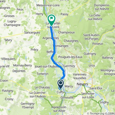 Itinéraire vers 1 Quai d'Aval, La Charité-sur-Loire