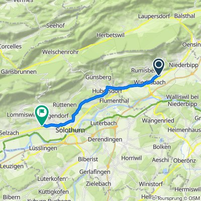 Tulpenweg 1–13, Oberbipp nach Friedhofstrasse 3, Bellach