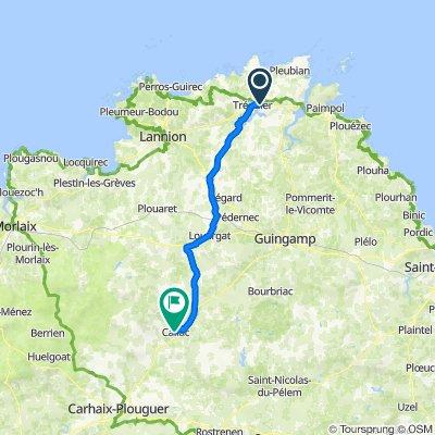 Route nach Callac