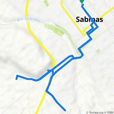 De Calle General Santos Degollado 636, Sabinas a Calle General Santos Degollado 636, Sabinas