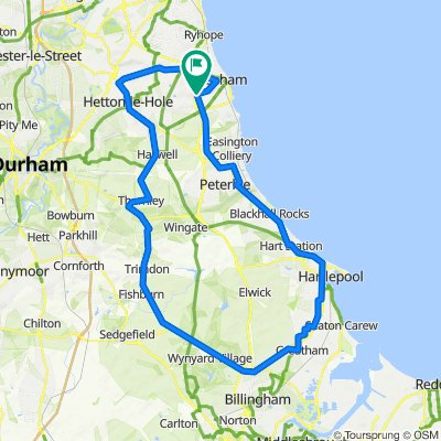 Seaham Hartlepool Thornley Haswell Easington Round Trip (Apx 50 mile)