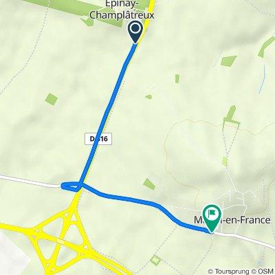 D316, Épinay-Champlatreux to 2 Rue du Saule Baudin, Mareil-en-France