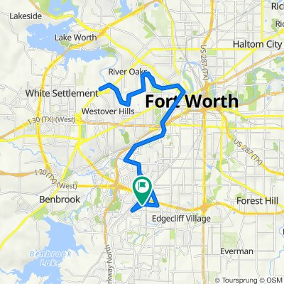 3932 Wedgway Dr, Fort Worth to 3929 Wedgway Dr, Fort Worth