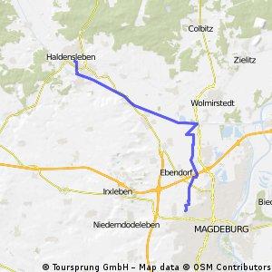 Route Olvenstedt Haldensleben über Mittellandkanal