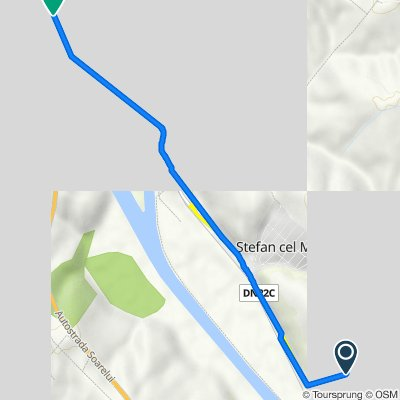 Route to Strada Panait Cerna 13–25, Cernavoda