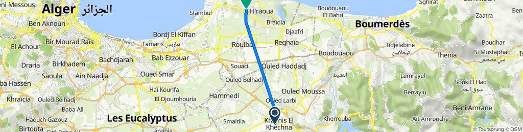 De Khemis El Khechna à Route de Ain Taya, H'raoua
