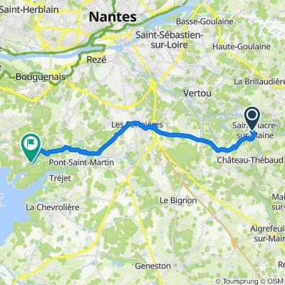 De 17 Rue Sophie Trébuchet, Saint-Fiacre-sur-Maine à 6–8 Place de l'Église, Saint-Aignan-Grandlieu
