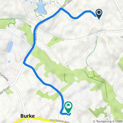 5603 Mt Burnside Way, Burke to 9248 Old Keene Mill Rd, Burke