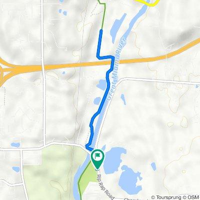 Rip Rap Park to South Park Fishing Pond on GMRBT round trip