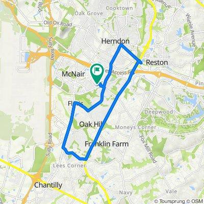 13119 Marcey Creek Rd, Herndon to 13115 Marcey Creek Rd, Herndon