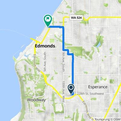 22807 96th Pl W, Edmonds to 121–199 Caspers St, Edmonds