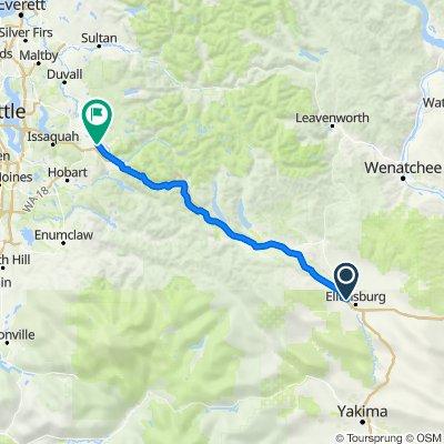 2705 Triple L Loop, Ellensburg to 7971 Railroad Ave SE, Snoqualmie