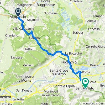 Tappa 29 - Da Altopascio a San Miniato