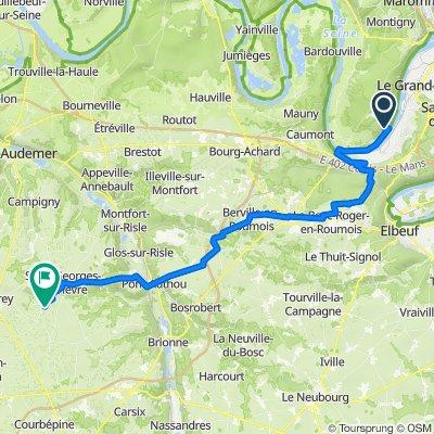 De 7–9 Chemin des Templiers, Val-de-la-Haye à Rue des Tisserands, Saint-Jean-de-la-Léqueraye