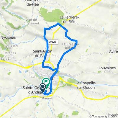 De 2bis Route de l'Hommelaie, Sainte-Gemmes-d'Andigné à 3 Rue Wolfgang Amadeus Mozart, Segré