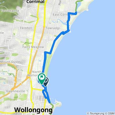 George Hanley Drive, North Wollongong to 14-16 Pleasant Avenue, North Wollongong